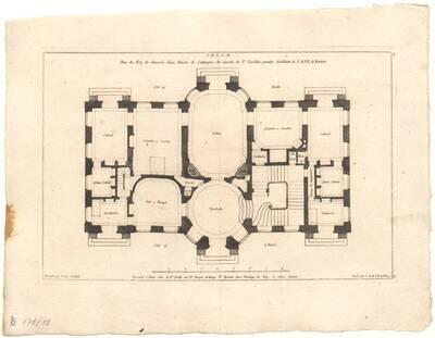 Der Grundriß eines Landhauses (vom Bearbeiter vergebener Titel)