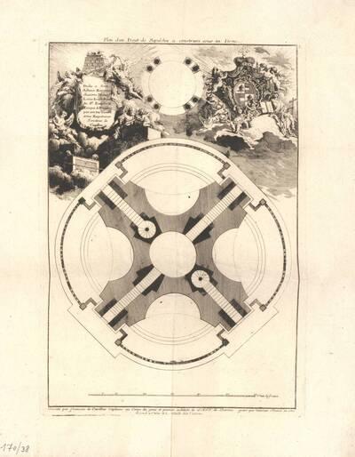 Grundriß eines Grabmals, Blatt 5 aus der Folge E der Gesamtausgabe der Werke der Cuvilliés (vom Bearbeiter vergebener Titel)