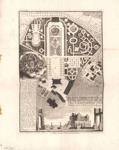Eine Gartenanlage, Blatt 1 aus der Folge Z der Gesamtausgabe der Werke der Cuvilliés (vom Bearbeiter vergebener Titel)