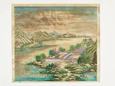 36 Ansichten des kaiserlichen Sommerpalastes in Jehol 香遠益清 (xiang yuan yi qing), nach Shen Yu 沈喻 ( 1649 - nach 1728)