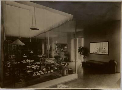 Fotografie des Österreich-Raums auf der Triennale in Mailand 1933 (vom Bearbeiter vergebener Titel)