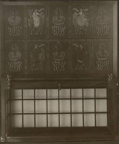 Fotografie eines Stuhls in der Wohnung Hellmann, Wien I., Rathausstraße 17 (vom Bearbeiter vergebener Titel)