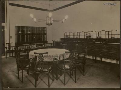 Fotografie des Speisezimmers in der Wohnung Hirsch, I. Wien, Reichsratsstraße 1 (vom Bearbeiter vergebener Titel)