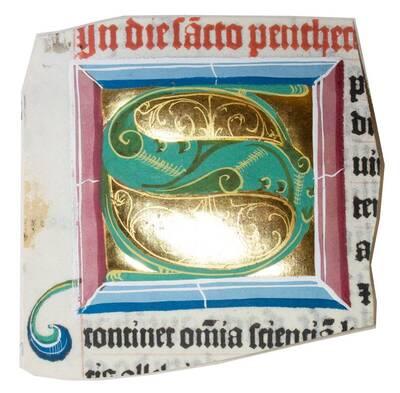 Initiale S eines Missales (vom Bearbeiter vergebener Titel)