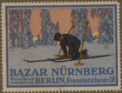 Werbeverschlussmarke für Bazar Nürnberg Winter-Sport-Ausrüstung Berlin