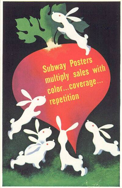 Subway Posters Multiply Sales with Color...Coverage...Repetition (vom Bearbeiter vergebener Titel)