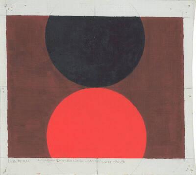 Oil Opus 12, Slide No. 328, Neuberger Museum, Alizarin, Cadmium Red, Cadmium Red Light, Blue (Originaltitel)