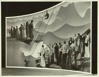 Wandgestaltung des Österreich-Pavillons auf der Triennale in Mailand 1936 (vom Bearbeiter vergebener Titel)