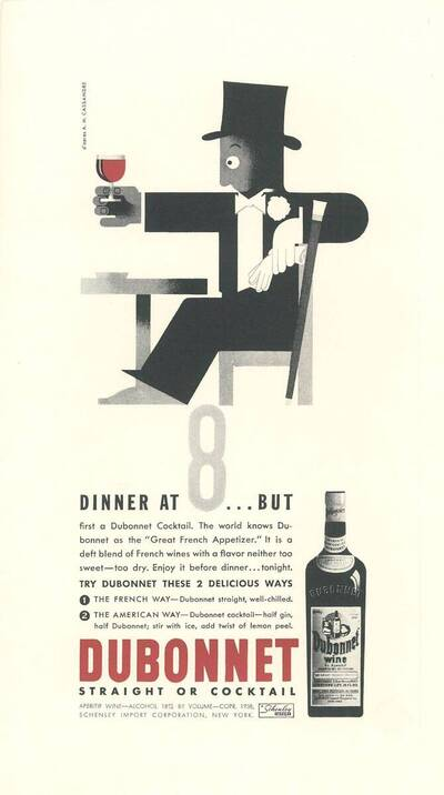 Werbeinserat: Dinner at 8... But,..., Dubonnet (Originaltitel)
