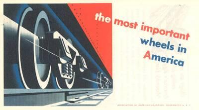 The Most Important Wheels in America, Association of American Railroads, Washington 6, D.C., .... (Originaltitel)