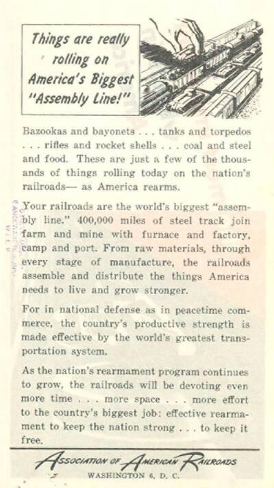 The Most Important Wheels in America, Association of American Railroads, Washington 6, D.C., .... (vom Bearbeiter vergebener Titel)