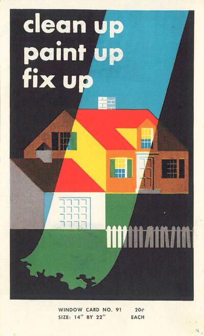 Clean up, Paint up, Fix up, Window card No. 91, 20c Each (vom Bearbeiter vergebener Titel)