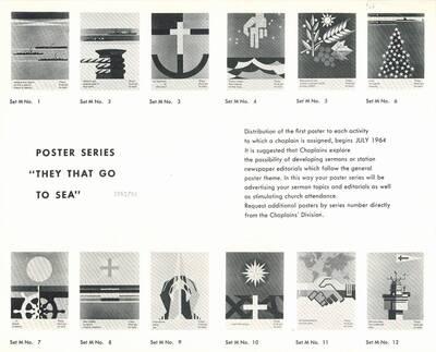 Werbefolder für die Chaplains Division Serie M von Joseph Binder (vom Bearbeiter vergebener Titel)