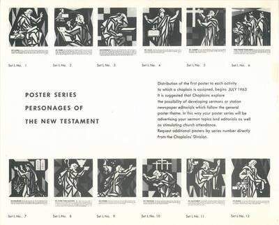 Werbefolder für die Chaplains Division Serie L von Joseph Binder (vom Bearbeiter vergebener Titel)