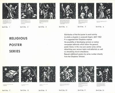 Werbefolder für die Chaplains Division Serie K von Joseph Binder (vom Bearbeiter vergebener Titel)