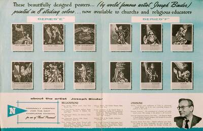 Werbematerial der Church World Press Inc. zu den Chaplains Serien E und F (Originaltitel)