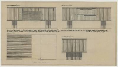 Ansichten des Schreibtischs für Herrn Wilfried Machwitz-Danzig (vom Bearbeiter vergebener Titel)