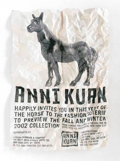 Horse. Werbeaussendung für Anni Kuan