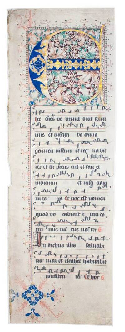 Halbes Blatt eines Missales (vom Bearbeiter vergebener Titel)