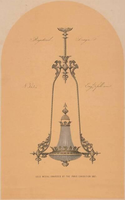 Musterblatt einer Gaslampe (vom Bearbeiter vergebener Titel)