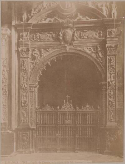Fotografie der Kapelle von Zaporta in der Kathedrale San Salvador in Zaragoza (vom Bearbeiter vergebener Titel)