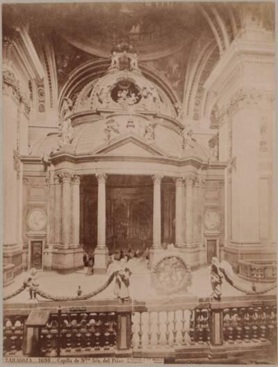 Fotografie des Chors in der Basilika del Pilar in Zaragoza (vom Bearbeiter vergebener Titel)