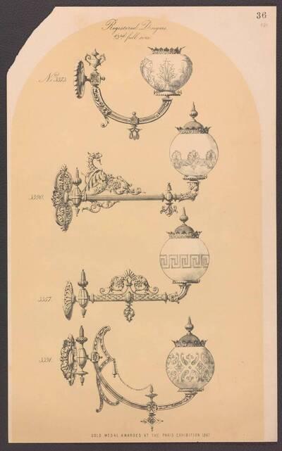 Vier Gaslampen