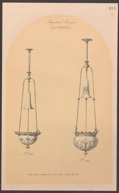 Zwei Deckenlampen mit Gasbetrieb