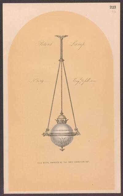 Deckenlampe mit Gasbetrieb