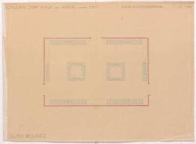 Grundriss für die kunstgewerbliche Abteilung der Ausstellung