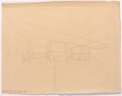 Planperspektive für die kunstgewerbliche Abteilung der Ausstellung