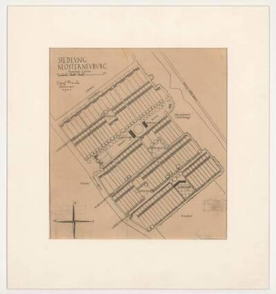 Originalgrundriss der Siedlung Klosterneuburg von Josef Frank (vom Bearbeiter vergebener Titel)