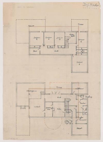 Grundriss für ein Haus in Schweden (vom Bearbeiter vergebener Titel)