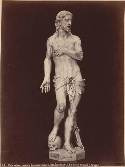 Fotografie einer Christusstatue aus Elfenbein von Francesco Terilli 1596 (vom Bearbeiter vergebener Titel)