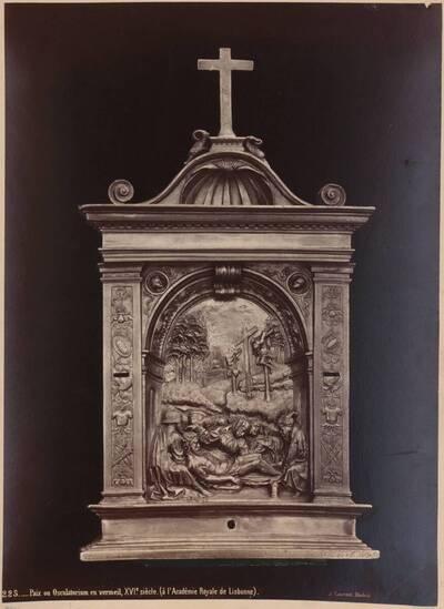 Fotografie einer Kusstafel des 16. Jahrhunderts aus der Königlichen Akademie in Lissabon (vom Bearbeiter vergebener Titel)
