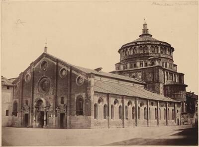 Fotografie der Santa Maria delle Grazie in Mailand (vom Bearbeiter vergebener Titel)