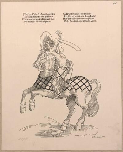 Faksimile nach einem Holzschnitt von Hans Guldenmundt aus der