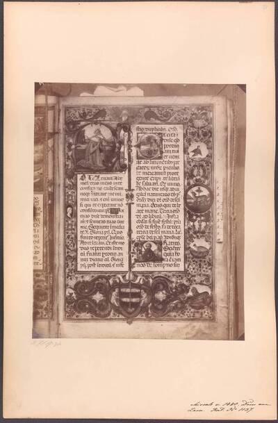 Fotografie eines Missales aus dem Dom in Zadar von 1480 (vom Bearbeiter vergebener Titel)
