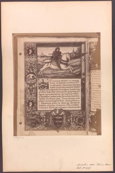 Fotografie eines Missales aus dem Dom von Zadar von 1480 (vom Bearbeiter vergebener Titel)