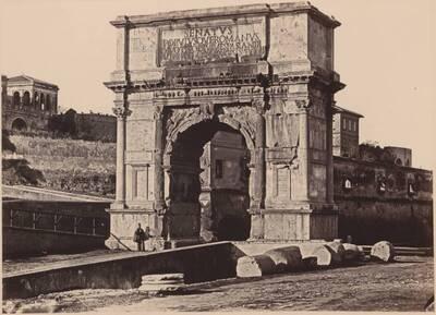 Fotografie des Titusbogens, in Rom (vom Bearbeiter vergebener Titel)