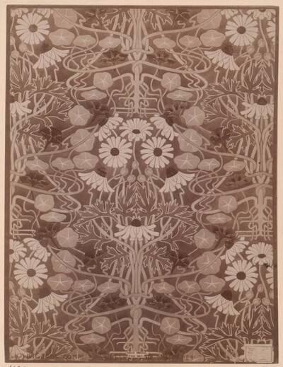 Fotografie eines Tapeten-Entwurfs von James Grimstone (vom Bearbeiter vergebener Titel)