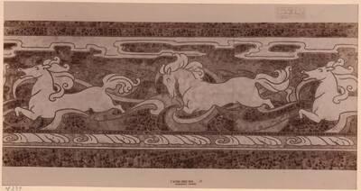 Fotografie eines Entwurfes für ein Mosaikfries von Mary G. Houston (vom Bearbeiter vergebener Titel)