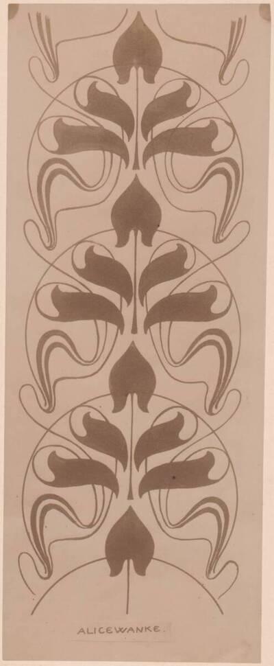Fotografie eines Entwurfes von Alice Wanke (vom Bearbeiter vergebener Titel)