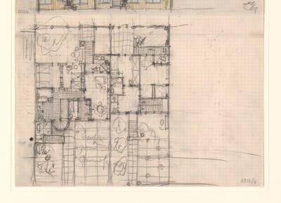 Entwurf zu einem Grundriss eines Hauses in der Werkbund-Siedlung