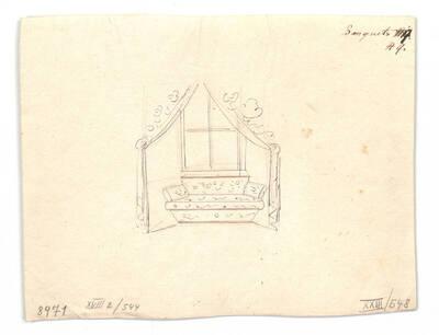 Entwurf für ein Interieur (vom Bearbeiter vergebener Titel)