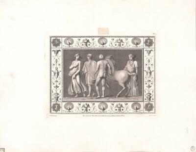 [Titusthermen. Vier Figuren und ein Pferd] (vom Bearbeiter vergebener Titel)