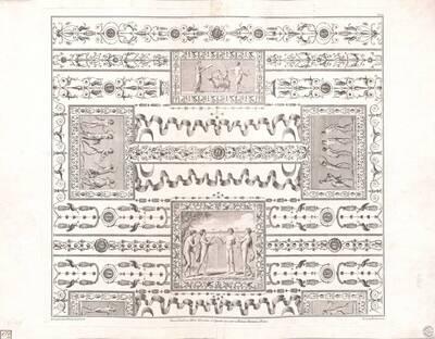 [Titusthermen. Deckenansicht mit Grotesken und figürlichen Szenen] (vom Bearbeiter vergebener Titel)