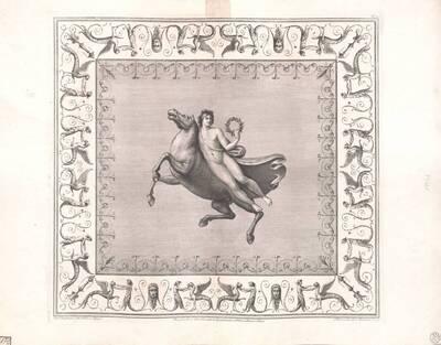 [Titusthermen. Schwebender Mann mit Pferd] (vom Bearbeiter vergebener Titel)