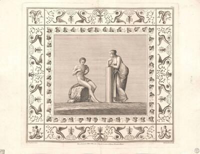 [Titusthermen. Mann mit Panflöte und Zuhörerin] (vom Bearbeiter vergebener Titel)