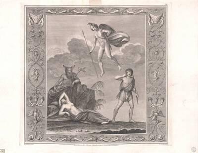 [Titusthermen. Hermes ? und Minerva oder Theseus und die schlafende Ariadne] (vom Bearbeiter vergebener Titel)